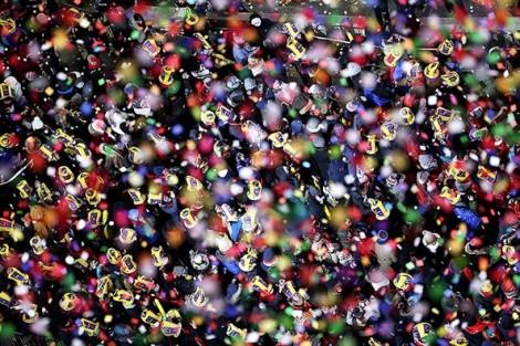 Chào năm mới trong giá rét tại Quảng trường Thời đại
