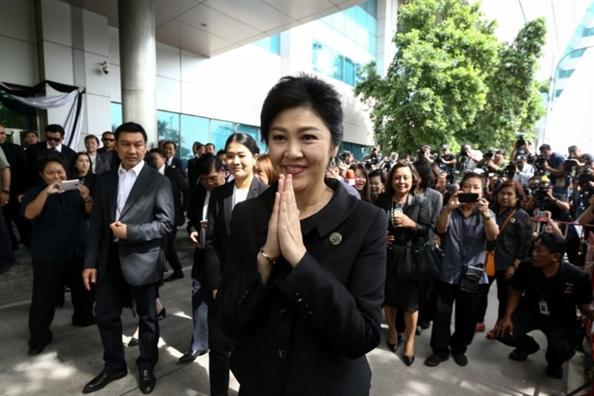 Ngoai truong Thai Lan xac nhan cuu Thu tuong Yingluck dang o London