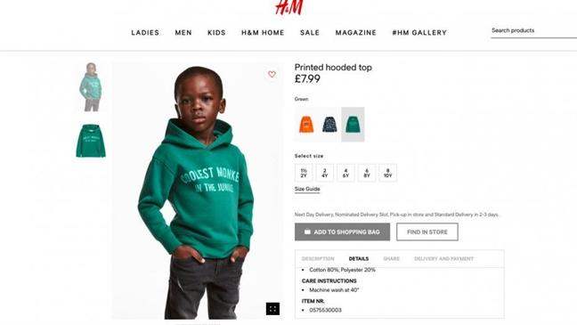 H&M xin loi nguoi dung vi mau quang cao phan biet chung toc