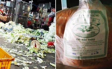Kinh hoàng dùng rau ở bãi rác chợ Bình Điền sản xuất cải bắc thảo