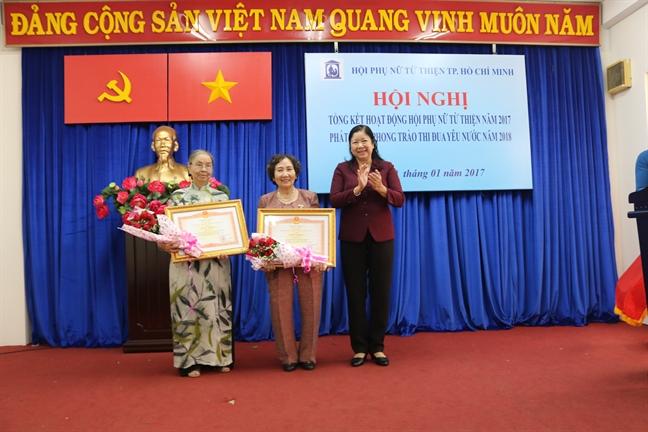 Hoi Phu nu tu thien TP.HCM: Hon 9,5 ty dong cham lo nguoi ngheo