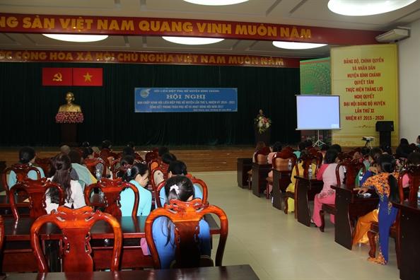 Huyen Binh Chanh: Nhieu hoat dong ho tro phu nu xay dung gia dinh hanh phuc