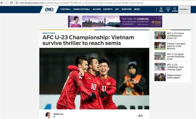 Truyen thong quoc te 'nga mu' truoc chien thang lich su cua U23 Viet Nam