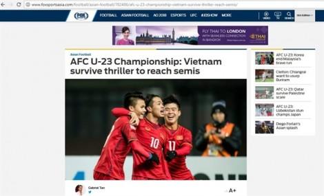 Truyền thông quốc tế 'ngả mũ' trước chiến thắng lịch sử của U23 Việt Nam