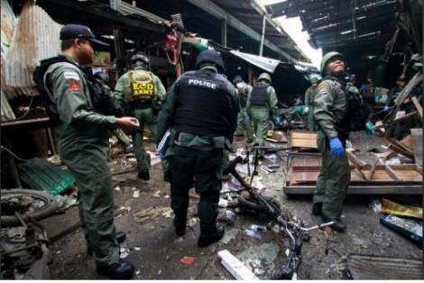 Nổ bom tại chợ Thái Lan, 21 người thương vong