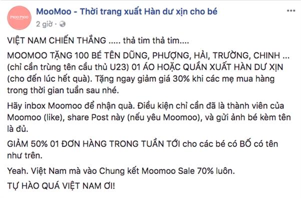 Nhieu noi giam gia 'an theo' chien thang doi tuyen U23 Viet Nam