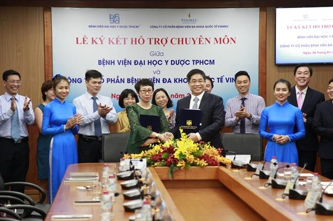 Benh vien Dai hoc Y Duoc TP.HCM ky ket hop tac voi Benh vien Vinmec Nha Trang