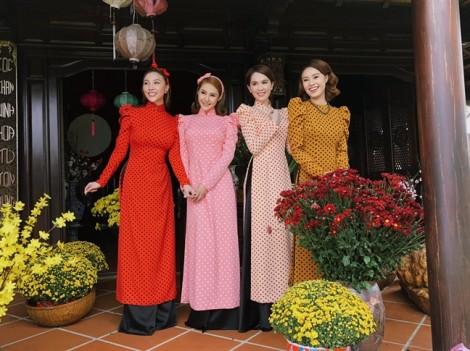 Mỹ nhân Việt tích cực lăng xê mẫu áo dài cách tân Tết 2018