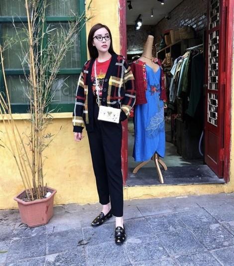 Soi giá hàng hiệu trang phục dạo phố của mỹ nhân Việt