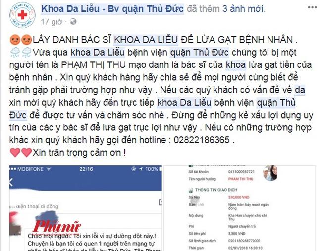 Cuoi nam, gia danh bac si Benh vien Thu Duc ban hang online