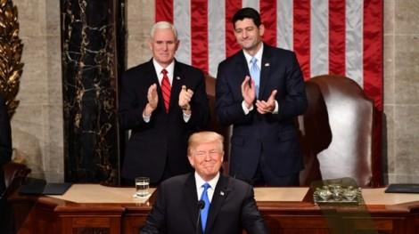 Đọc Thông điệp Liên bang đầu tiên, Tổng thống Trump kêu gọi thống nhất nước Mỹ vĩ đại