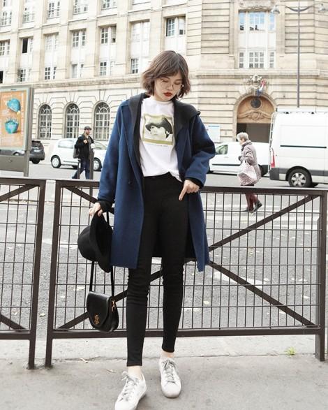 Cách kết hợp áo khoác dạ chất như fashionista