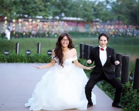 Bộ ảnh cưới cô dâu, chú rể đổi vai 'lầy' đến mức khó tin khiến cư dân mạng dậy sóng