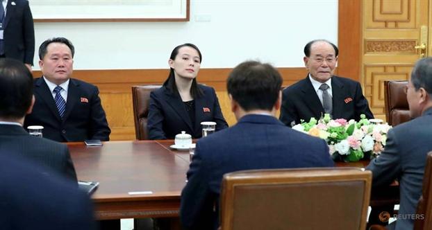 Tong thong Han Quoc gap em gai nha lanh dao Kim Jong Un