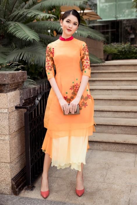 6 công thức du xuân với áo dài cách tân rực rỡ sắc màu
