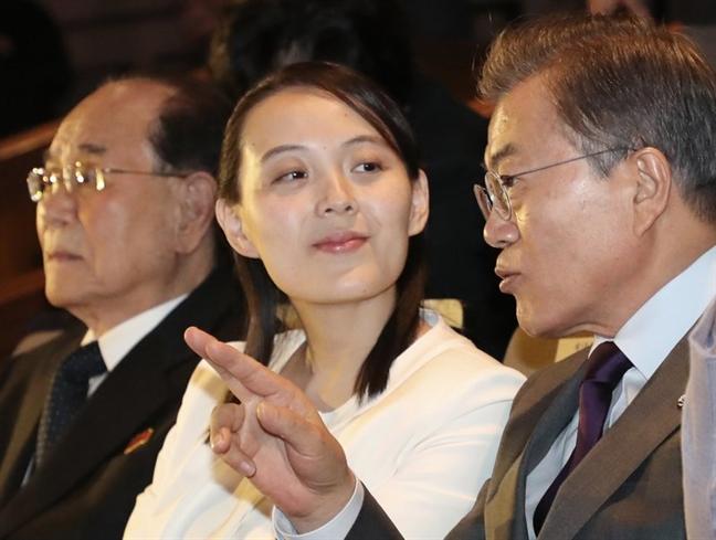 Em gai Kim Jong Un 'ghi diem' khi den Han Quoc