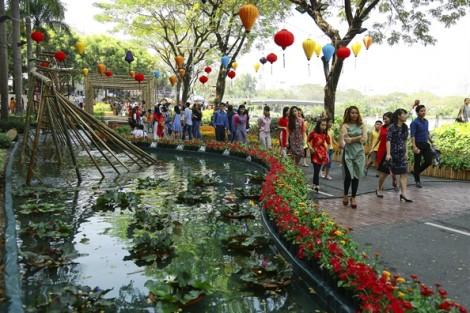 Rực sắc xuân hoa đồng cỏ nội ở khu nhà giàu Sài Gòn