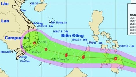 Bão Sanba khả năng sẽ đi vào Biển Đông ngày 30 tết