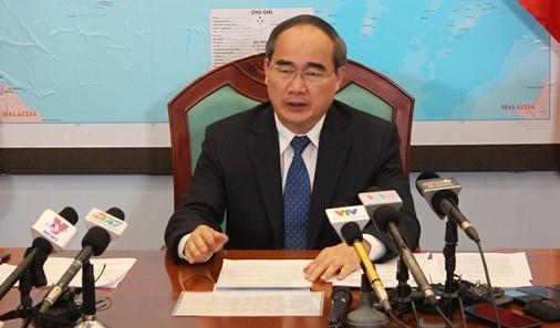 Bi thu Thanh uy TP.HCM Nguyen Thien Nhan: Nam 2018 la nam ban le doi voi TP.HCM va ca nuoc