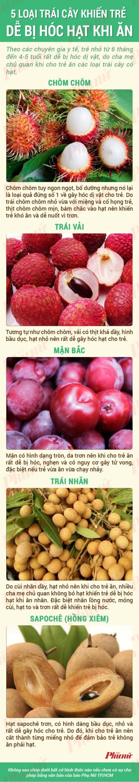 5 loại trái cây khiến trẻ dễ bị hóc hạt khi ăn