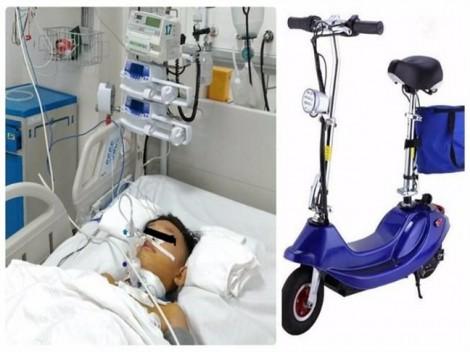 Bé trai ở Vĩnh Long suýt chết do chơi xe trượt điện trong công viên