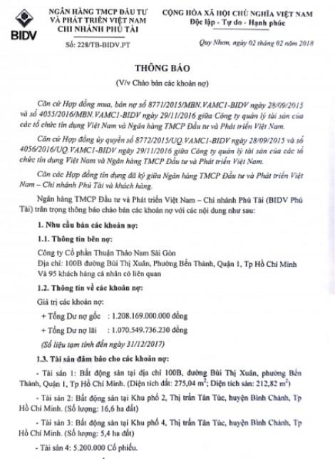 Nợ đầm đìa, Thuận Thảo Nam Sài Gòn bị phát mại hàng loạt dự án bất động sản ở TP.HCM