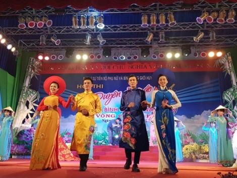 Huyện Bình Chánh: Chung kết hội thi Duyên dáng áo dài