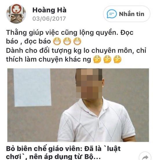 Vu nu giao vien bi de nghi chuyen cong tac vi noi xau lanh dao: co the khoi kien truong va UBND xa