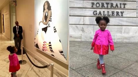 'Nữ hoàng' Michelle Obama gieo niềm tin cho bé gái 2 tuổi