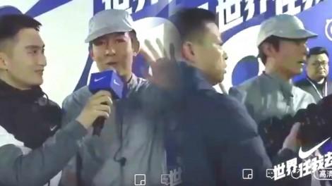 Trần Quán Hy bị cảnh sát buộc phải rời khỏi hiện trường khi đang giao lưu trực tiếp