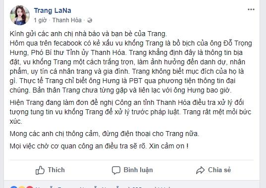 Co gai bi don 'bo nhi' cua Pho Bi thu tinh Thanh Hoa de nghi tim nguoi tung tin vu khong