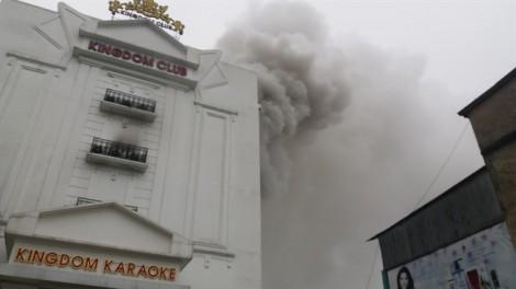 Cháy lớn tại quán karaoke sang trọng ở Hà Tĩnh suốt nhiều giờ