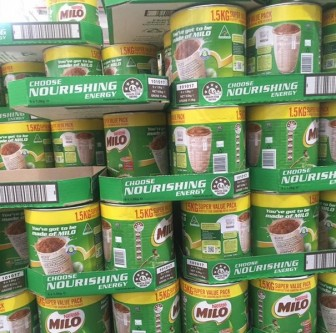 Không nhập khẩu sản phẩm Milo bột của Australia và New Zealand