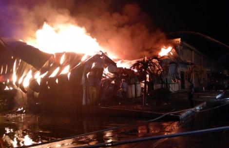 Cháy hàng ngàn tấn nguyên liệu ở nhà máy sản xuất sơ sợi Texhong – Ngân Long
