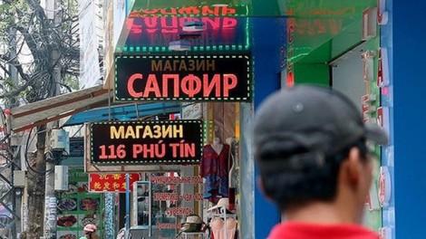 Yêu cầu tỉnh Khánh Hòa chấn chỉnh vụ biển quảng cáo toàn tiếng Nga