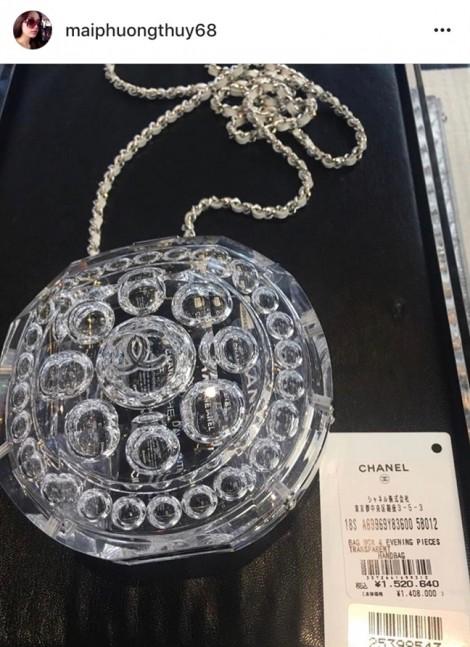 Mai Phương Thuý sắm túi Chanel 300 triệu đồng chỉ để đựng son