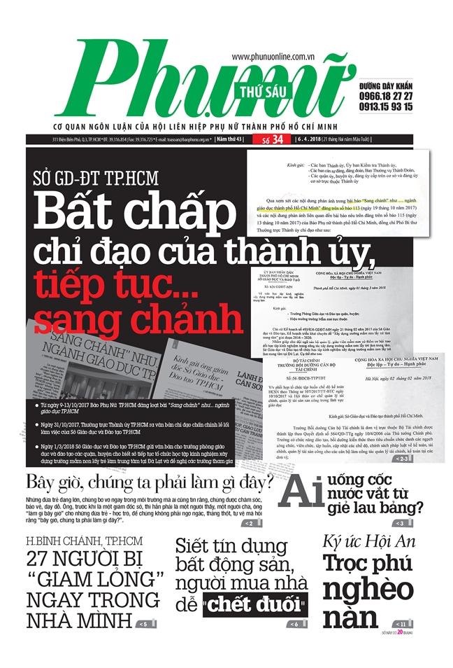 Vu So GD-DT TP.HCM bat chap chi dao cua Thanh uy, tiep tuc… sang chanh: Khong thay sai, sao lam dung?