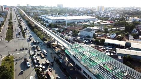 Tuyến metro đầu tiên của Sài Gòn lắp mái vòm 2 nhà ga
