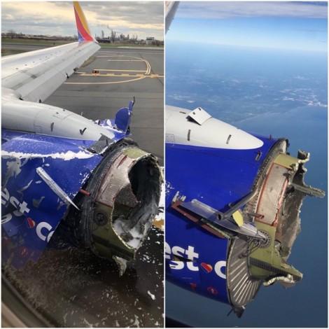 Mỹ: Máy bay nổ động cơ giữa không trung, hành khách bị hút ra ngoài
