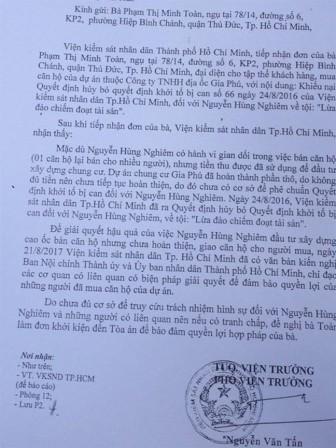 Vụ Công ty Gia Phú bán một căn hộ cho nhiều người: Viện Kiểm sát nhân dân tối cao vào cuộc