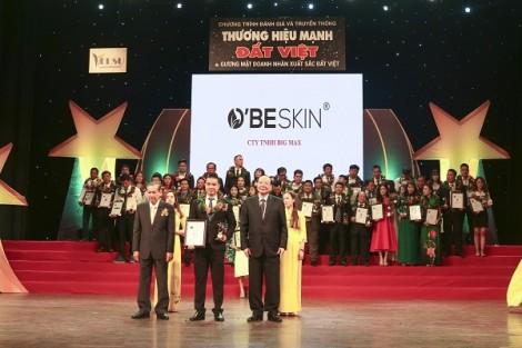 Mỹ phẩm O'BE SKIN đạt Top 10 Thương hiệu mạnh Đất Việt