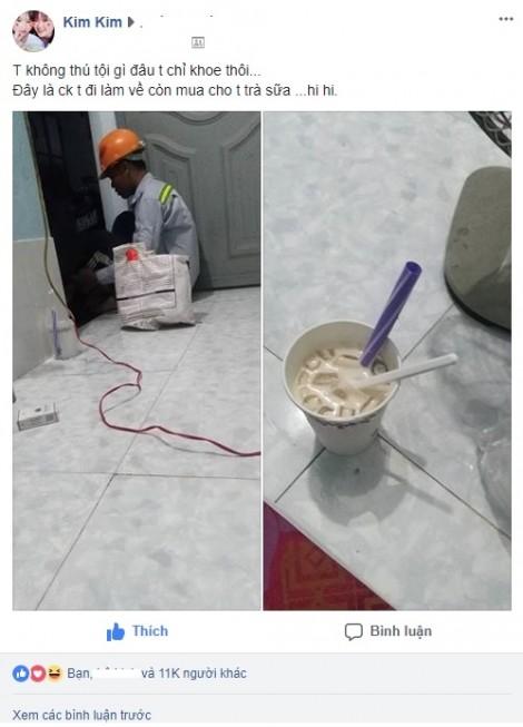 Chồng công nhân đi làm về mệt nhưng đêm nào cũng mua trà sữa cho vợ