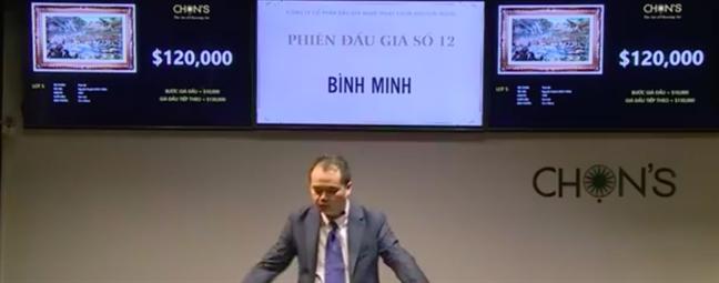 Buc 'dien tranh' doc dao cua Nguyen Huyen duoc ban voi gia hon 6 ty dong