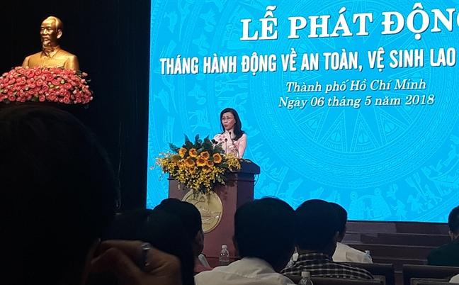 Pho Chu tich UBND TP Nguyen Thi Thu: 'An toan, ve sinh lao dong can hanh dong thuc chat, khong doi pho'