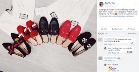 Bảo Thy tự tặng 'núi giày hàng hiệu' làm quà sinh nhật tuổi mới