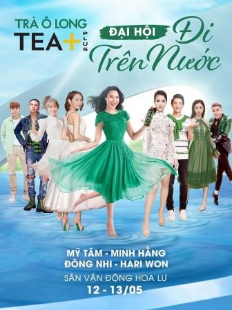 """Sao Việt thách đấu nhau đầy gay cấn tại sự kiện """"TEA+ đi trên nước"""""""
