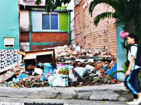 Rác thải xây dựng vẫn bị đổ bừa ra bãi
