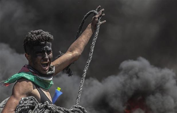 Mot ngay uat han, mau va lua o dai Gaza