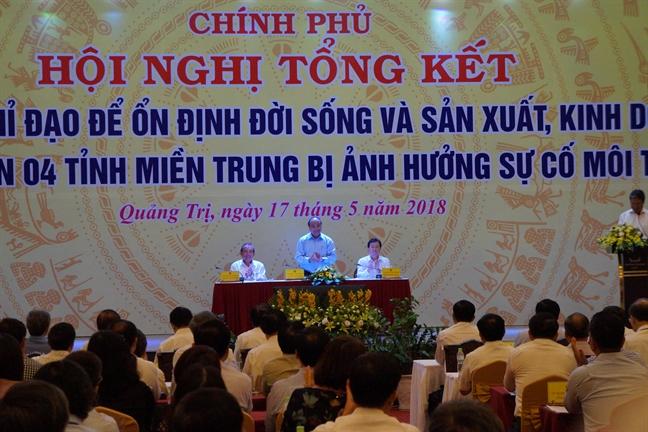 Chinh phu tiep tuc ho tro ngu dan bam bien sau su co moi truong o mien Trung