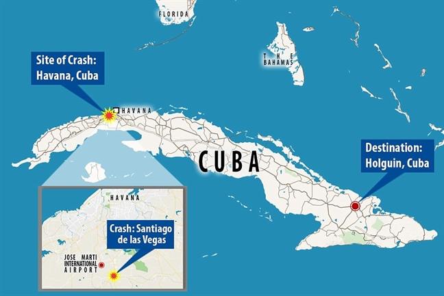 May bay roi o Cuba: Hon 100 nguoi thiet mang, 3 nguoi nguy kich